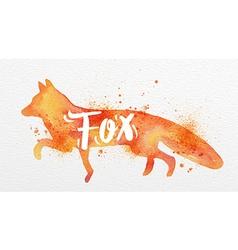 Painted animals fox vector