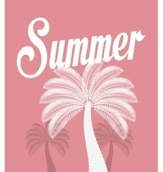 Palms tree beach vector