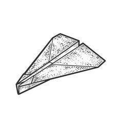 paper plane line art sketch vector image