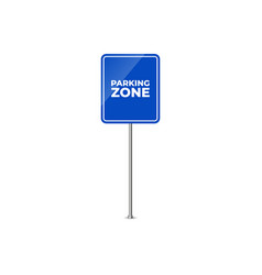 parking road sign blank place for car vector image