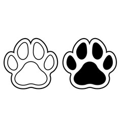 pawprints outlined vector image
