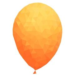 Polygonal Orange balloon vector image