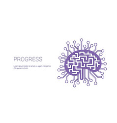 progress development business concept template web vector image