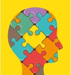 Puzzle pieces teamwork vector