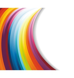 Rainbow horizontal banner vector