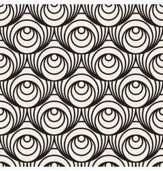Seamless Black And White Concentric Circles vector