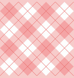 seamless pink and white background - checkered vector image
