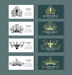 Set of templates for corporate style vector
