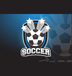 soccer ball logo design for esports sport team vector image