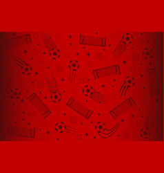 soccer red background vector image
