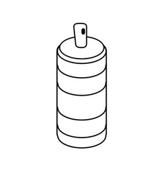 Spray can container thin line vector