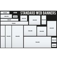 Standard Web Banners Templates vector