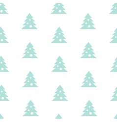 Stock Seamless Blue Christmas Tree Pattern vector
