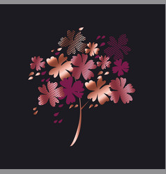 Stylized autumn floral tree vector