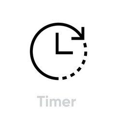 timer abstract pictogram icon vector image