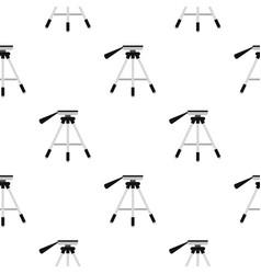 Tripod pattern flat vector