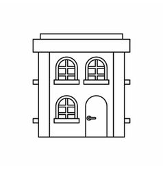 Two storey house icon outline style vector image