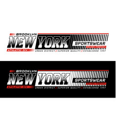typography design new york sportswear vector image