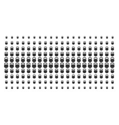 weight shape halftone pattern vector image