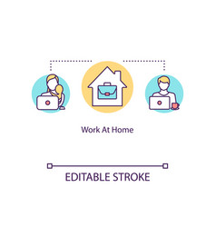 work at home concept icon part time job for mom vector image