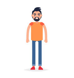 cartoon full-length man isolated vector image