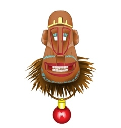 Christmas fun monkey mask a symbol of the coming vector image vector image