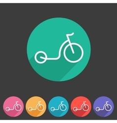 kick bike scooter flat icon web sign symbol logo vector image vector image