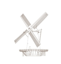 Old Classic Windmill vector image