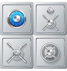 Realistic Metal Safe Set vector image