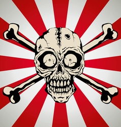 Skull smile vector image vector image