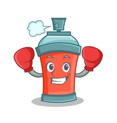 boxing aerosol spray can character cartoon vector image