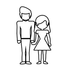 couple parents family member outline vector image vector image