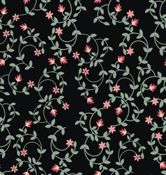 Floral romantic seamless pattern vector image