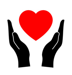 hands that protect the heart vector image