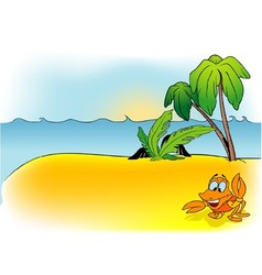 Island And Crab vector image
