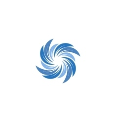 Isolated abstract blue color spining spiral logo vector image