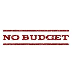 No budget watermark stamp vector