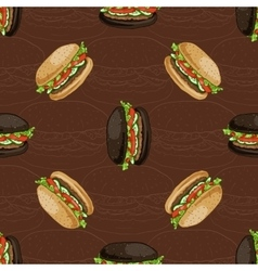 seamless pattern of two types burger vector image vector image