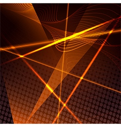 Abstract background with laser beams vector image vector image