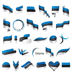 biggest collection of flags of Estonia vector image vector image