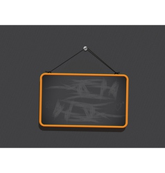 Blackboard Sign Background vector image vector image