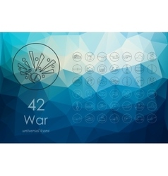 Set of war icons vector image vector image