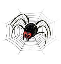 black spider web vector image vector image