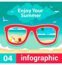 infographic concept summer vector image vector image