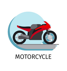 motorcycle in flat style vector image