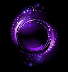purple round banner vector image vector image