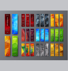 templates of vertical web banners with a vector image