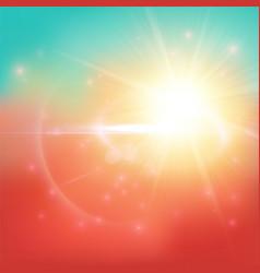 warm summer background vector image