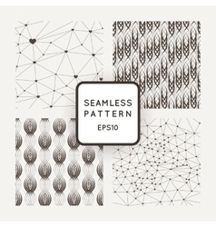 A set of four seamless patterns polygons vector