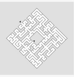 Abstact labyrinth educational game for kids vector